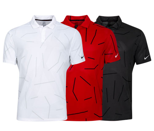 Poloshirt für Herren Nike Tiger Woods Dri-Fit Print, kurzarm