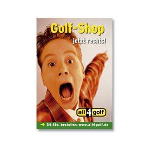 Plakat Aufsteller Kundenstopper all4golf