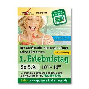 Plakat Poster Banner Großmarkt Hannover