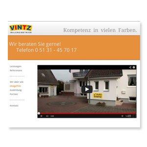 Homepage Vintz Maler