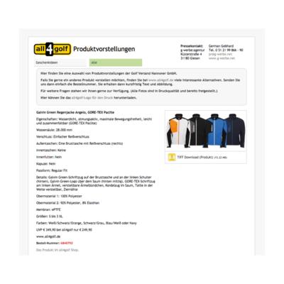 all4golf Produktvorstellungen 518 Agentur Hildesheim