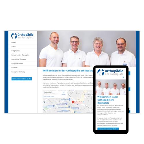Internetseite Orthopädie am Raschplatz