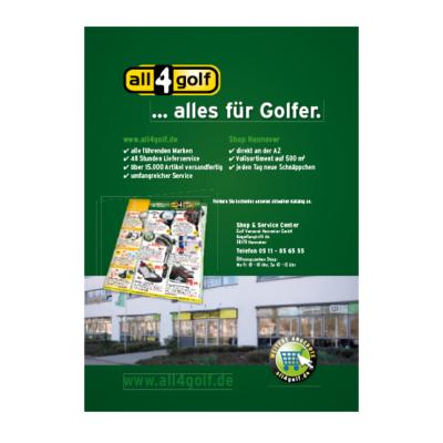 Anzeige all4golf Agentur Hildesheim