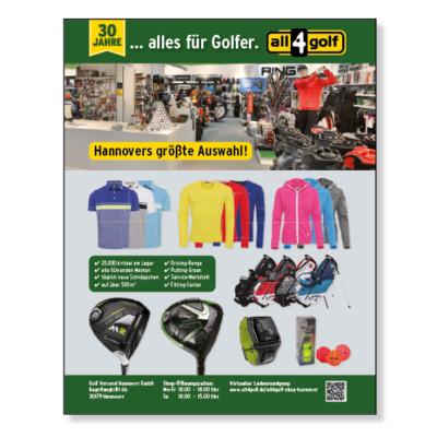all4golf-Anzeige-Nobilis Agentur Hildesheim