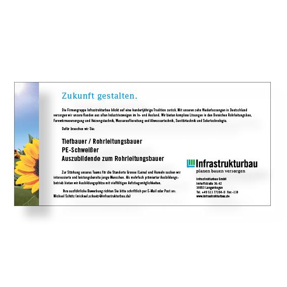 Infrastrukturbau Anzeige Agentur Hildesheim