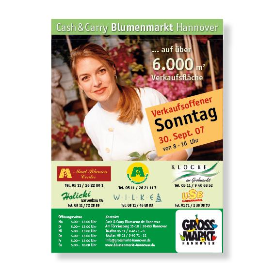 Cash&Carry Plakat Agentur Hildesheim