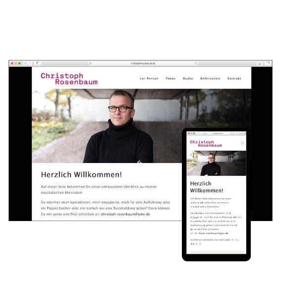 Christoph Rosenbaum Internetseite