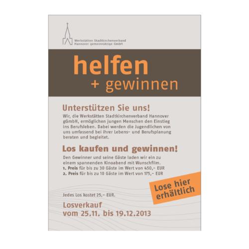 helfen+gewinnen Plakat Agentur Hildesheim