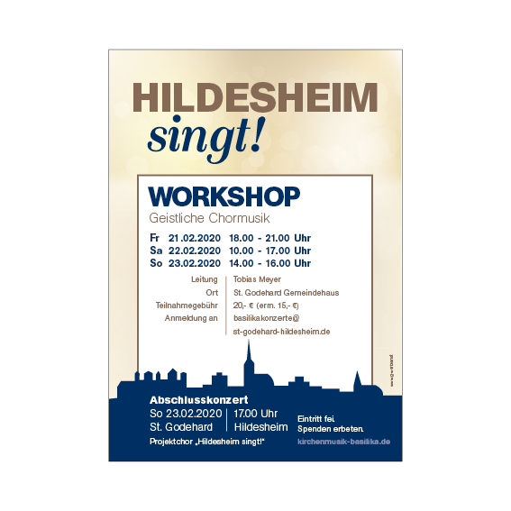 Hildesheim singt Plakat 2020 Agentur Hildesheim