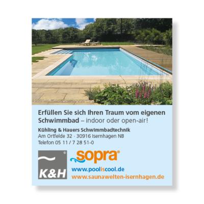 sopra Schwimmbad Anzeige Agentur Hildesheim
