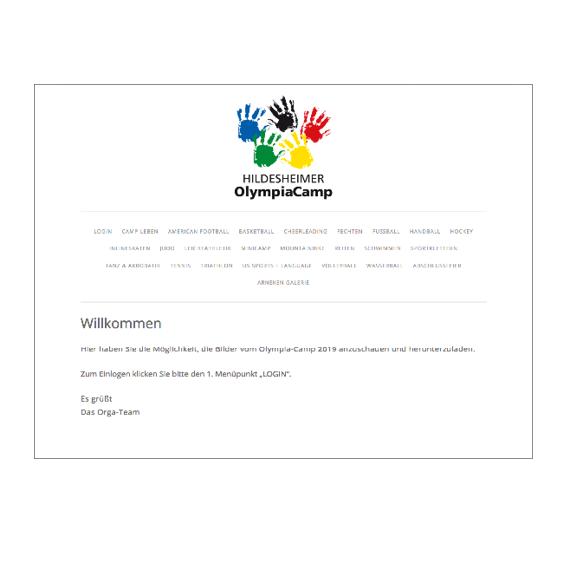 OlympiaCamp Login Agentur Hildesheim