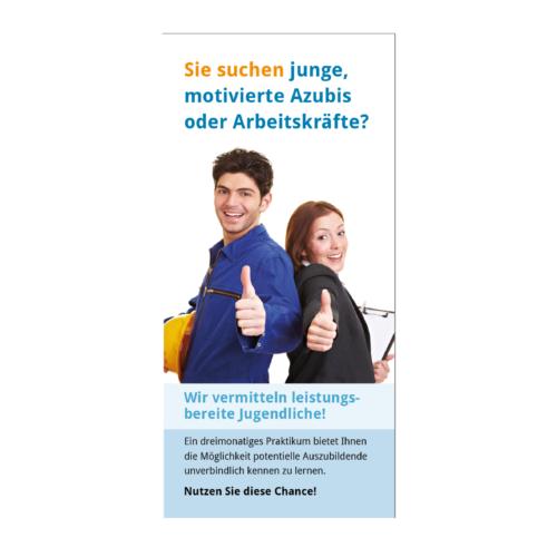 Vermittlung Flyer Agentur Hildesheim